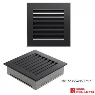 Grille encastrable (carré 170x170 grand anthracite à lamelles)